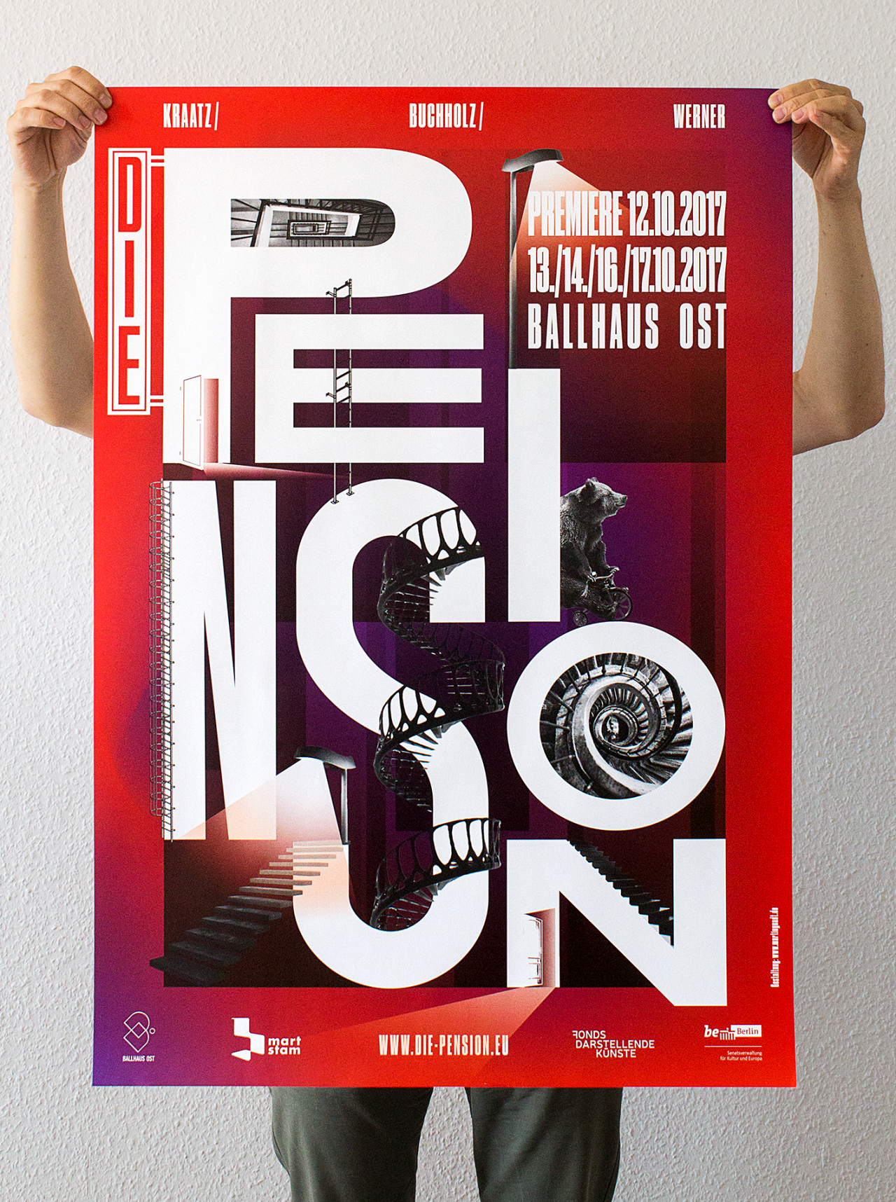 Martin Gnadt — Kommunikationsdesign DIE PENSION poster