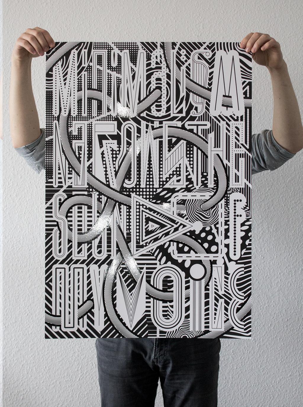 Martin Gnadt — Kommunikationsdesign MINIMALISM poster